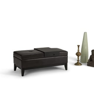 WYNDENHALL Jackson Storage Ottoman Bench with Tray
