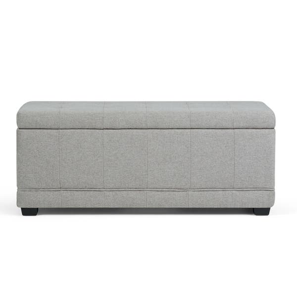 Wyndenhall Norwood 45 Inch Wide Contemporary Rectangle Storage Ottoman Overstock 10359888
