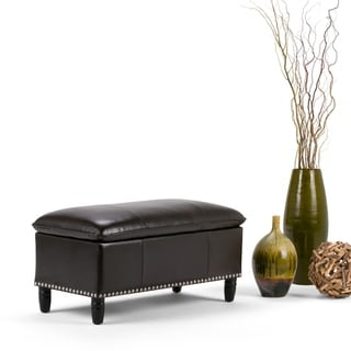 WYNDENHALL Northridge Pillow Top Storage Ottoman Bench