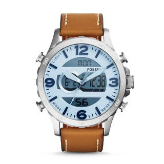 Fossil Men's Nate Analog-Digital Multi-Function Brown Leather Watch JR1492|https://ak1.ostkcdn.com/images/products/10359896/P17467779.jpg?impolicy=medium