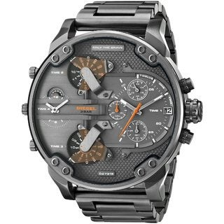 Diesel Men's Mr Daddy Dual Zone Chronograph Grey Dial Grey Stainless Steel Watch DZ7315