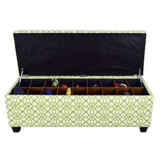 The Sole Secret Noah Summertime Button Tufted Shoe Storage Bench