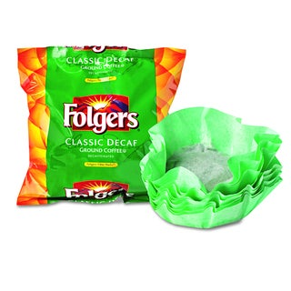 Folgers Decaffeinated Classic Decaf Roast Coffee Filter Packs (Carton of 40)
