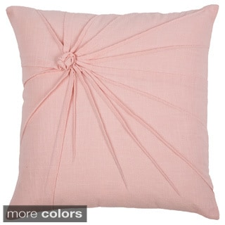 Rizzy Home 18-inch Twisted Knot Cotton Throw Pillow with Removable Cover