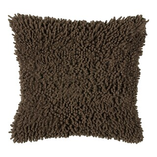 Rizzy Home 18-inch Cotton Throw Pillow (Option: Mocha)