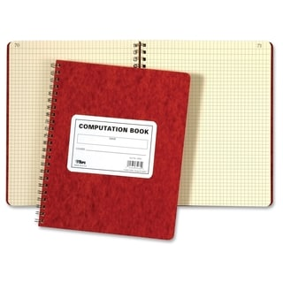TOPS Wirebound Quad Rule Computation Book