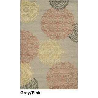 Rizzy Home Eden Harbor Collection Grey Wool Rug (3 x 5)
