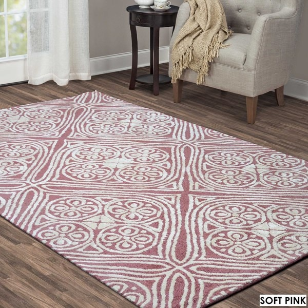 Shop Hand-tufted Trellis Wool Rug (5' X 8')