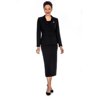 Giovanna Signature Women's Decorative Brooch 3-piece Skirt Suit (More options available)