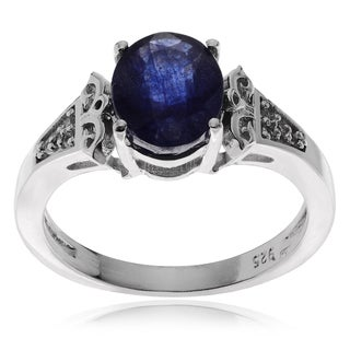Journee Collection Sterling Silver Topaz Sapphire Ring