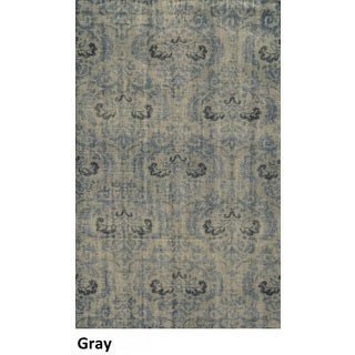 Hand-Knotted Abstract New Zealand Wool Grey Rug (2' x 3')