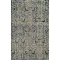 Hand-Knotted Abstract New Zealand Wool Grey Rug - 3' x 5'