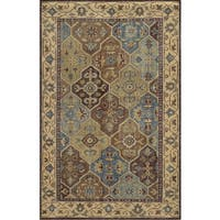Hand-Knotted Border New Zealand Wool Beige Rug - 3' x 5'