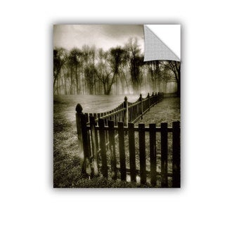 ArtAppealz Steve Ainsworth 'Fence In The Fog' Removable Wall Art