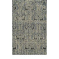 Hand-Knotted Abstract New Zealand Wool Grey Rug - 8' x 10'