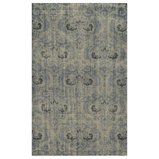 Hand-Knotted Abstract New Zealand Wool Grey Rug (9' x 12')
