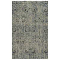 Hand-Knotted Abstract New Zealand Wool Grey Rug - 9' x 12'