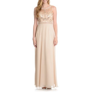 Decode 1.8 Women's Pearl Embellished Evening Gown
