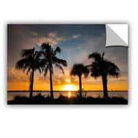 ArtAppealz Steve Ainsworth 'Tropical Sunset' Removable Wall Art