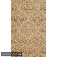 Hand-Knotted New Zealand Wool Abstract Blue/ Beige/ Brown Rug