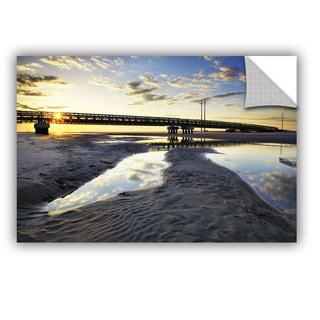 ArtAppealz Steve Ainsworth 'Hatteras Pools And Bridge' Removable Wall Art