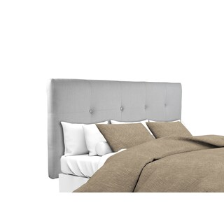 MJL Furniture Ali Button Tufted Silver Grey Upholstered Headboard