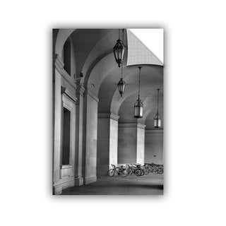ArtAppealz Steve Ainsworth 'Colonnade And Bicycles' Removable Wall Art