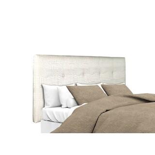 MJL Furniture Ali Button Tufted Cream Upholstered Headboard