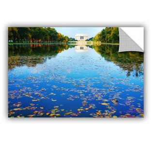 ArtAppealz Steve Ainsworth 'Lincoln Memorial And Reflecting Pool I' Removable Wall Art