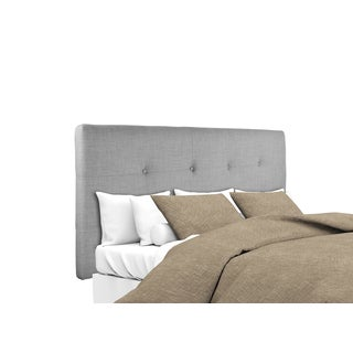 MJL Furniture Ali Button Tufted Dark Grey Upholstered Headboard
