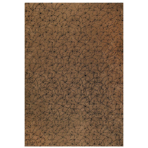 Handmade M.A.Trading Tufted Madeira Brown / Black New Zealand Wool Rug (5'6 x 7'10) India (India)