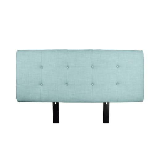 MJL Furniture Ali Button Tufted Sea Mist Upholstered Headboard