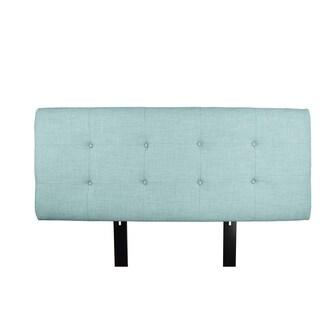 MJL Furniture Ali Button Tufted Sea Mist Green Upholstered Headboard