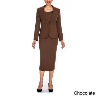 Giovanna Signature Women's Washable 3-piece Skirt Suit