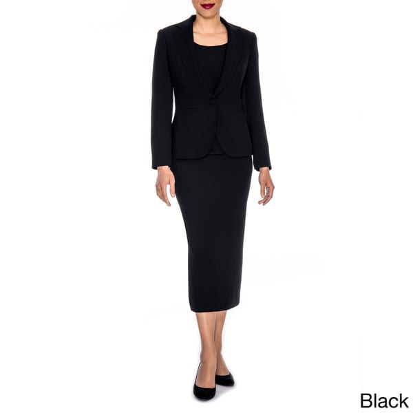 Giovanna Signature Women's Washable 3-piece Skirt Suit - Free ...