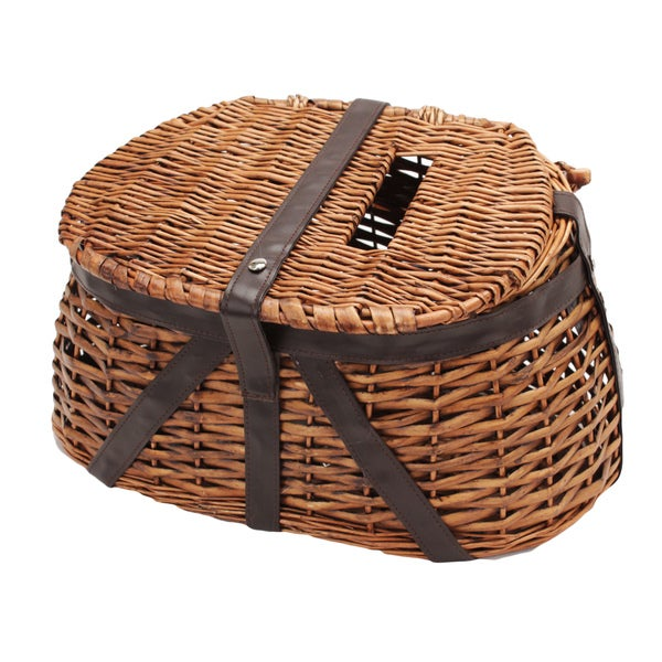 Rivers Edge Products Wicker and Faux Leather Fishing Creel
