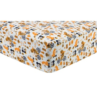 Trend Lab Let's Go Deluxe Flannel Fitted Crib Sheet
