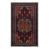 Handmade Herat Oriental Afghan Tribal Balouchi Wool Rug (Afghanistan) - 3'10 x 6'5