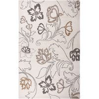 Hand-tufted Floral Wool Ivory Rug (5' x 8') - 5' x 8'