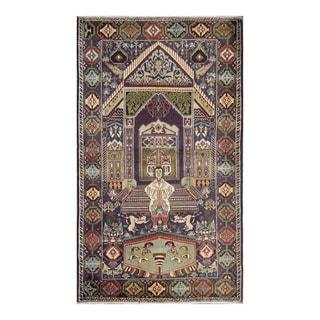 Herat Oriental Afghan Hand-knotted Tribal Balouchi Wool Rug (3'11 x 6'9)