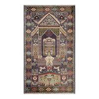Herat Oriental Afghan Hand-knotted Tribal Balouchi Wool Rug (3'11 x 6'9) - 3'11 x 6'9