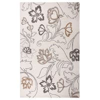 Hand-tufted Floral Wool Ivory Rug (9' x 12') - 9' x 12'