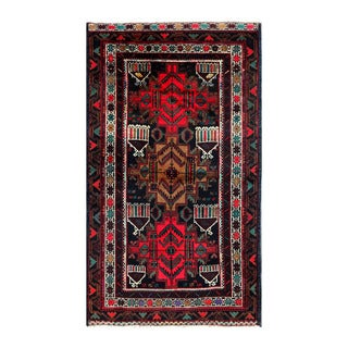 Herat Oriental Afghan Hand-knotted Tribal Balouchi Wool Rug (3'4 x 6'1)