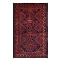 Handmade Herat Oriental Afghan Tribal Balouchi Wool Rug  - 3'10 x 6'5 (Afghanistan)