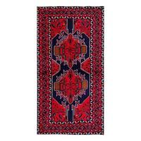 Herat Oriental Afghan Hand-knotted Tribal Balouchi Wool Rug (3'9 x 6'9) - 3'9 x 6'9