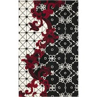 Hand-tufted Wool Abstract Black Rug (8' x 10')