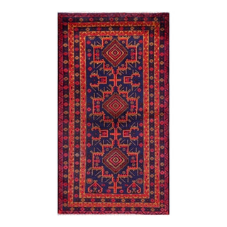 Herat Oriental Afghan Hand-knotted Tribal Balouchi Wool Rug (3'9 x 6'11)