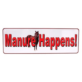 Rivers Edge Products 10.5-inch x 3.5-inch Tin Sign Manuer Happens