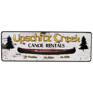 Rivers Edge Products 10.5-inch x 3.5-inch Tin Sign Up Schitz Creek