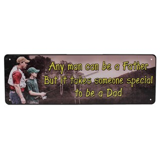Rivers Edge Products 10.5-inch x 3.5-inch Tin Sign Any Man Can Be A Father